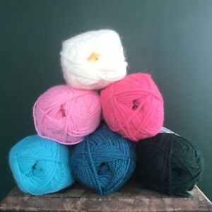 Flamingo Inspired Yarn Bundle Double Knitting - King Cole - 6 x 50g