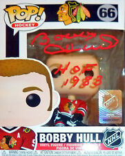 Bobby Hull Autographed Funko Pop! - Chicago Blackhawks - HOF 1983 Inscription