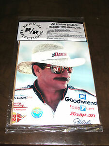 VINTAGE DALE EARNHARDT 8x10 ORIGINAL PHOTO by RACING REFLECTIONS FACTORY SEALED