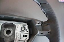Opel Astra H Zafira B Lederlenkrad neu bezogen weiße Naht