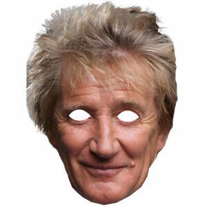 Rod Stewart Celebrity Singer Card Face Masks 10 20 30 Party Wholesale