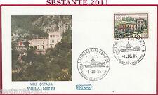 ITALIA FDC ROMA VILLE D'ITALIA VILLA NITTI MARATEA 1985 ANNULLO TORINO Y887