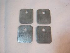 Trapping 1952 - 1953 Vintage 1952 53 Trap Tags Hunting 4 Wi Tags T*