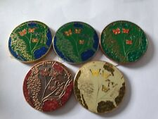 Gregson Vaux 2012 A New Home 5 Geocoin Set Unactivated And Trackable