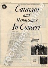 Caravan & Renaissance Swansea University MM5 LP/Tour Advert 1975