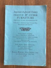 IMP 18TH C FRENCH & OTHER FURNITURE April 5 1968 Parke Bernet Auction Catalog