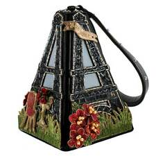 Mary Frances Je T'aime Embellished Eiffel Tower Black Red Handbag Paris Bag New