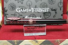 NEW! MONTEGRAPPA GAME OF THRONES TARGARYEN FOUNTAIN PEN, BLACK Med Nib