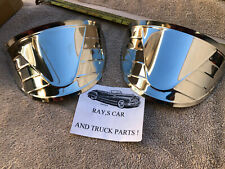 NEW SET OF RIGHT AND LEFT STAINLESS STEEL VINTAGE STYLE HEAD LIGHT VISORS