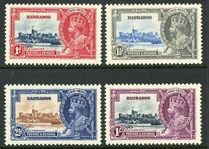 British 1935 KGV Silver Jubilee Barbados Scott # 186-189  Mint Non Hinged Y92