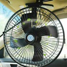 "12V 10"" Electric Car Interior Fan Oscillating Cooling Cooler Summer Strong Wind"