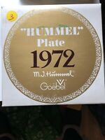 Goebel M. J. HUMMEL 2nd ANNUAL Collector PLATE - 1972 WEST GERMANY In The Box