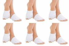 Angel KT Toe Separating Gel Compression Socks Heal Foot Dry Cracked Skin 6 Pairs