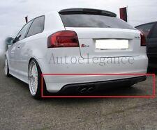 SPOILER Diffusore Sottoparaurti Posteriore per Audi A3 8p  S3 3 porte