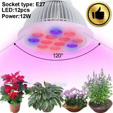 12W E27 12 LED Full Spectrum Red & Blue Hydroponic Flower Plant Grow Light Bulb