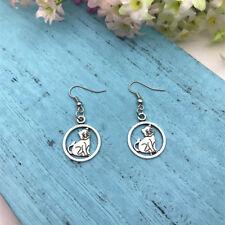 Dog Earrings Dog Earrings Tibet silver Earrings Dog Lover Gift Terrier.
