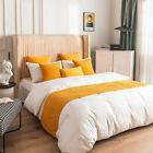 Luxury Wrinkle Dutch Velvet Bed Runner Scarf Dould-sided Home Hotel Bedroom Deco