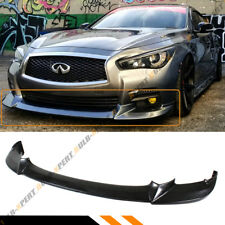 FOR 2014-2017 INFINITI Q50 BASE PREMIUM JDM NIS TYPE FRONT BUMPER LIP SPLITTER