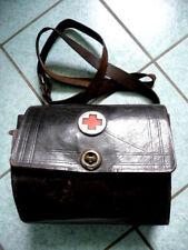 WEHRMACHT WH WW2 Rotes Kreuz Verbandskasten? Schulterriemen schwarzes Leder 1931
