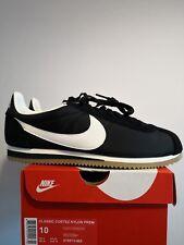 Nike Classic Cortez NYLON Prem Black White Size UK 9 EU 44 US 10