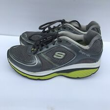 SKETCHERS Shape Ups S2 LITE Sneakers Shoes Shaping Tone Up Gray/Green Women 7.5