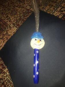 Blue Snowman Christmas Light Up Wand