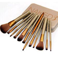 Pro 12 PCS  NAKE3 Makeup Set Powder Foundation Eyeshadow Cosmetic Brushes+Box