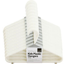 60 x BABY CHILDREN KIDS PLASTIC HANGERS CLOTHES CLOTH PLASTIC COAT HANGERS WHITE