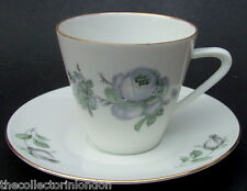 Vintage Seltmann Weiden Bavaria Monika Pale Pink Rose Coffee Cups & Saucers VGC