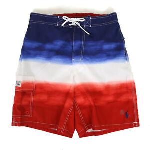 Polo Ralph Lauren Swimsuit Swim Shorts - Tie Dye Panel USA Flag colors