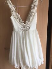 Lipsy  Dress White / Ivory  Size 8  £120