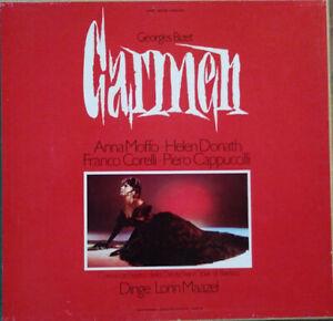 Georges Bizet, Maazel – Carmen Opera Completa - Triple LP & Booklet - Mint-