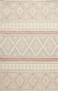 BLACK FRIDAY DEAL Geometric Kazak Wool/ Silk Oriental Area Rug Hand-tufted 5'x7'