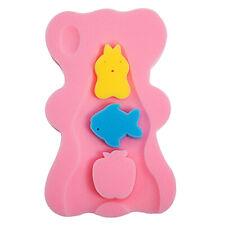 Cute Non Slip Baby Bath Sponge Bed Cushion Pad Bathroom Shower Mat Soft Pink