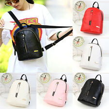 Women PU Leather Backpack Shoulder Travel Handbag School Bag Rucksack Mini Bag
