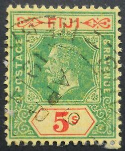 Fiji 1912 GV Five Shillings SG 136 used