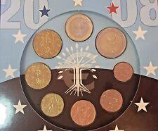 France 2008 Euro Set 8 Coins Monnaie De Paris European Union Special Edition