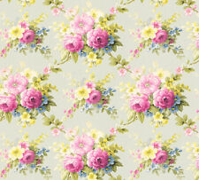 Vlies Tapete Blumen Bouquet hellgrün gelb pink Floral glanz 34508-3 Chateau 5