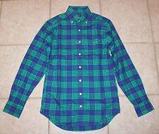 NWT Vineyard Vines Mens XS Slim Fit Alwood Plaid Flannel Tucker Shirt