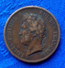 MONNAIE LOUIS PHILIPPE Ier ROI DES FRANCAIS 5 CENT DE 1839A GUYANE