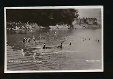 Somerset CLEVEDON New Marine Lake used c1930 RP PPC