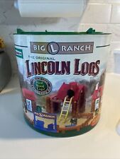 2004 Knex Lincoln Logs Big L Ranch Set 150+ pc Huge Lot Over 9 lbs Container