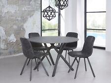 runder Tisch Esstisch Esszimmertisch Ø 120 cm JULIAN Beton Dekor Gestell Schwarz