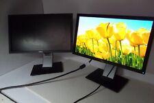 "Lot-2 Dell P2010H 20"" Widescreen Monitor 4-Port Usb Hub Vga Dvi Dp P2010ht J846R"