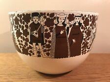 "Vintage Kaj Franck Arabia Finel Troubadour Medieval Enamel 8"" Bowl Excellent"