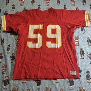 VTG 70s/80s Medalist Sand Knit Kansas City KC Chiefs #59 Jersey Adult XL Red USA