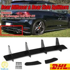 Rear Bumper Diffuser + Rear Side Splitters For Volkswagen VW GOLF VII 7 MK7 GTI