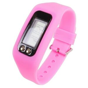 PINK FITNESS TRACKER WATCH Silicone Wristband Pedometer Activity/Exercise Fitbit