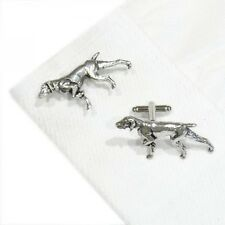 English Made Pointer Pewter Cufflinks (X2Tsbca30)