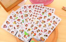 6 sheet bee girl  diary calendar photo album cup deco stationery PVC  sticker